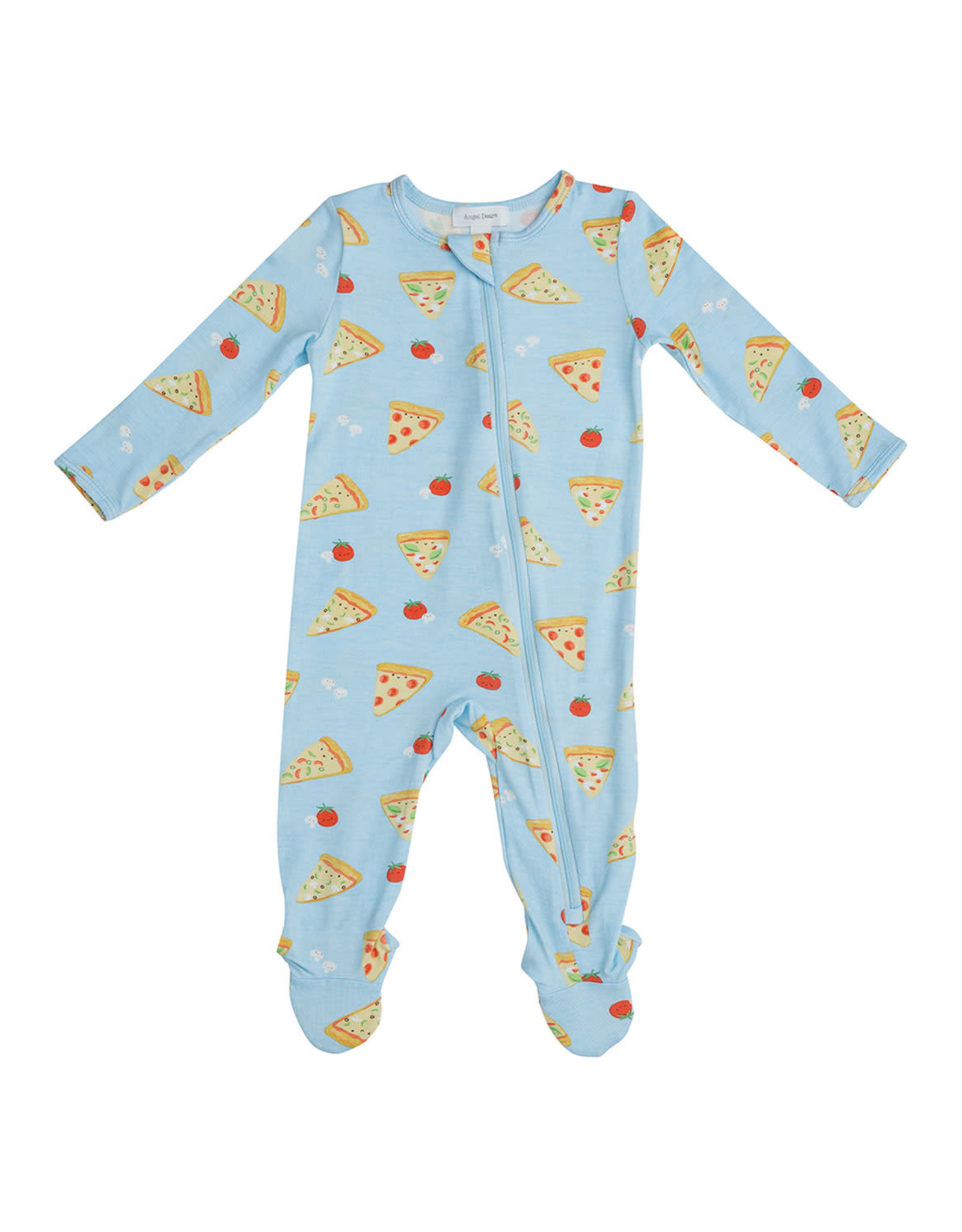 Angel Dear Pizza Zipper Footie