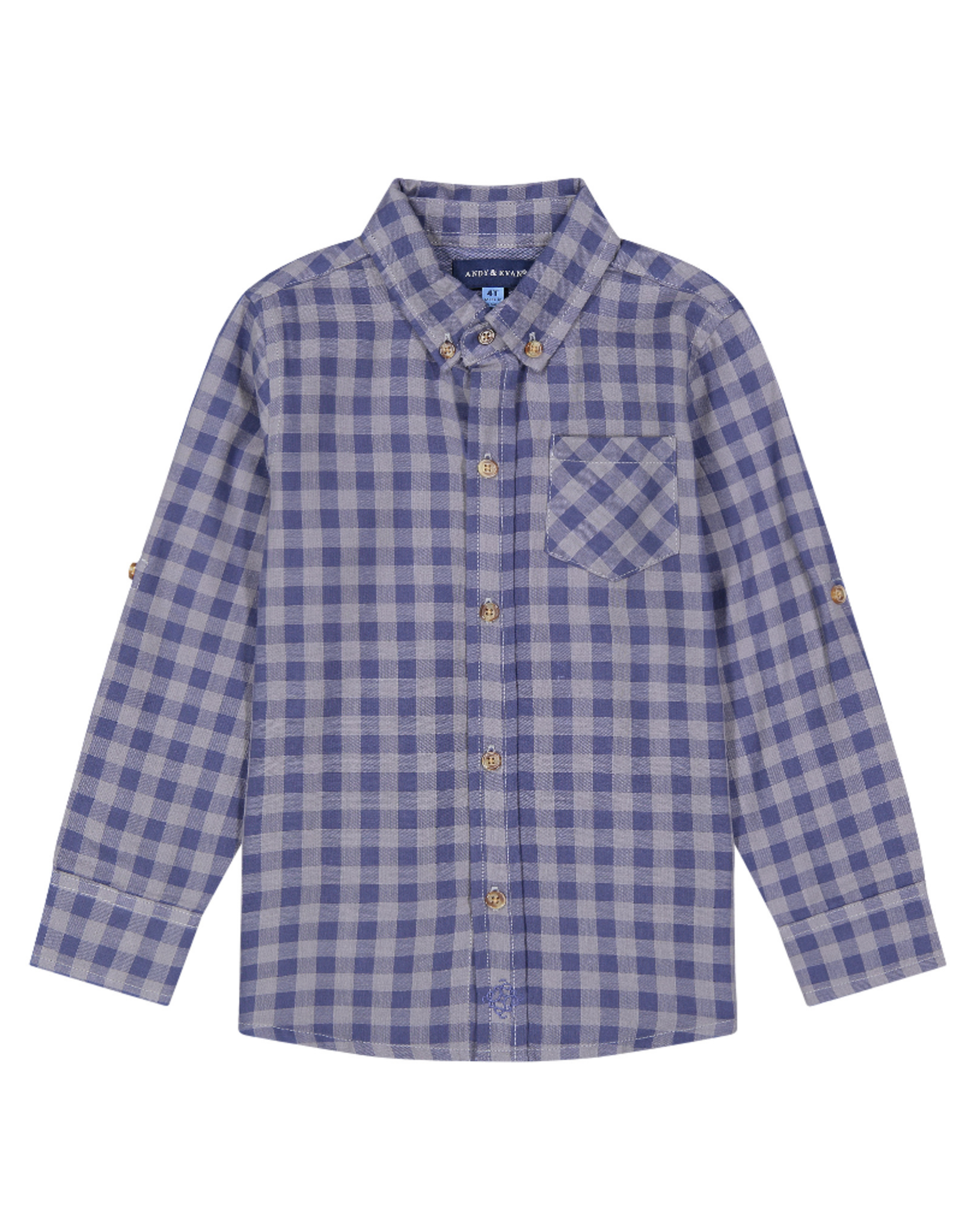 Andy & Evan Button Down Shirt, Blue Plaid