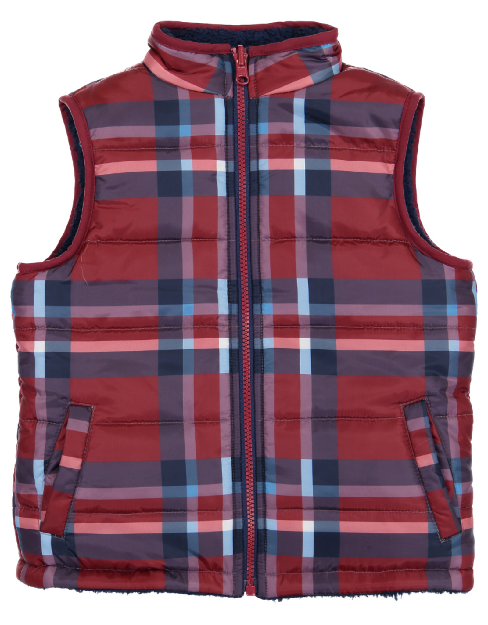 Andy & Evan Andy & Evan Reversible Fleece Puffer Vest