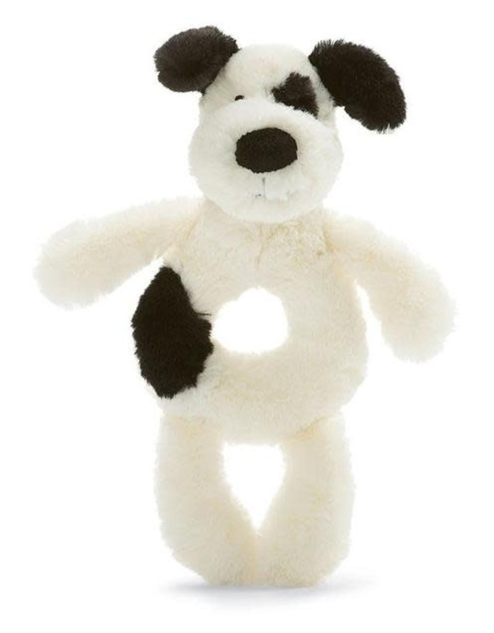 Jellycat Rattle Bashful Black & Cream Puppy Ring