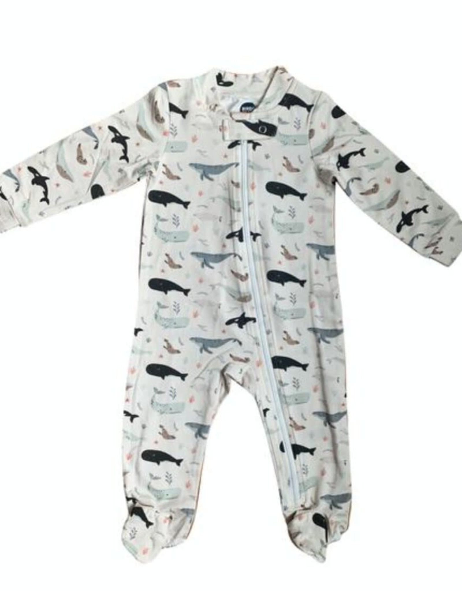 Bird & Bean Under the Sea Zip Romper