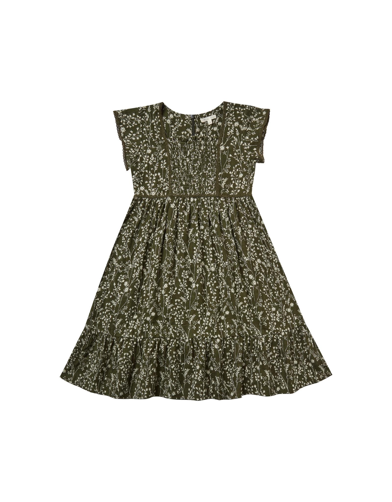 Rylee + Cru Vines Madeline Dress, Forest