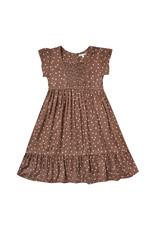 Rylee + Cru Dot Madeline Dress, Wine