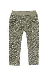 Boboli Fleece Pants - Olive Green Print