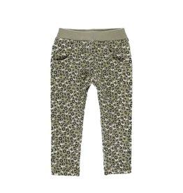 Boboli Fleece Pants - Olive Green Print