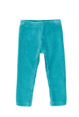 Boboli Stretch Corduroy Leggings - Aqua