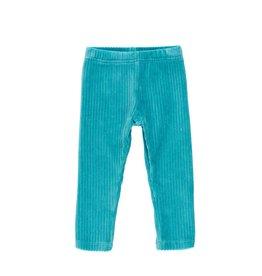 Boboli Stretch Corduroy Leggings - Aqua