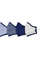 Andy & Evan Andy & Evan 4 Pack of Face Masks, Navy, Gray
