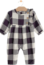 City Mouse Crinkle Side Button Romper