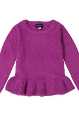 Andy & Evan Andy & Evan Sweater with Ruffle, Fuschia