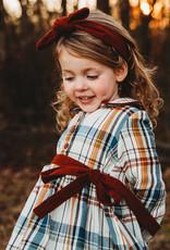 Ren & Rouge Ren & Rouge Corduroy Strap Dress w/  Headband