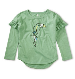Tea Beak Out Ruffle Graphic Tee, Park View