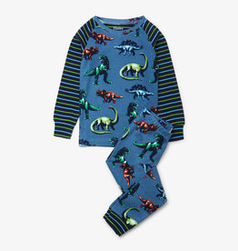 Hatley Painted Dinos Organic Cotton Raglan Pajama Set