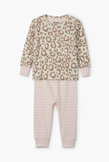 Hatley Painted Leopard Organic Cotton Baby Pajama Set