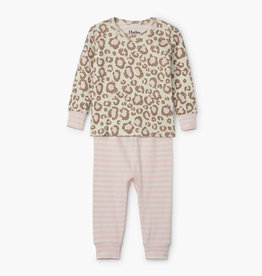 Hatley Painted Leopard Organic Cotton Baby Pajama Set