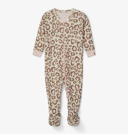 Hatley Painted Leopard Organic Footed Coverall