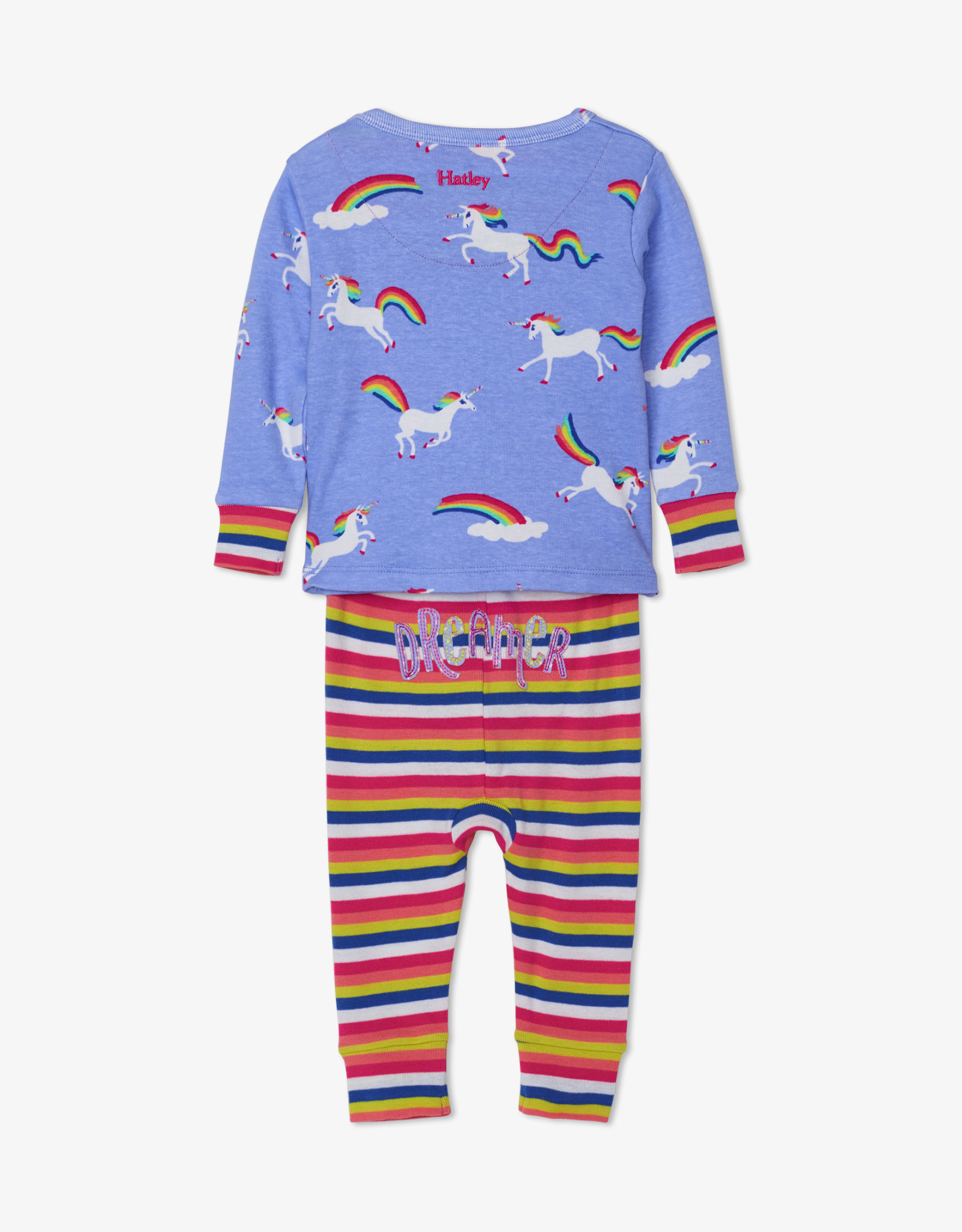 Hatley Rainbow Unicorns Organic Cotton Baby Pajama Set