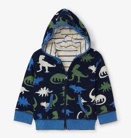 Hatley Silhouette Dinos Reversible Baby Hoodie