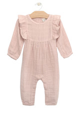 City Mouse Muslin Tie Romper, Soft Rose