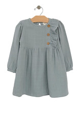 City Mouse Side Button Dress, Stillwater Blue