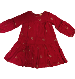 Almirah Almirah Lucy Dress, Red with Snowflakes