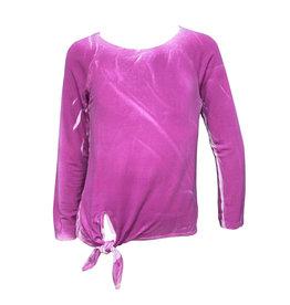 ERGE Long Sleeve Spray Wash Top, Magenta