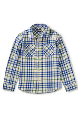 Tea Flannel Button Up Shirt, Alpamayo Plaid