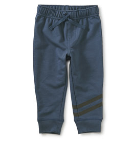 Tea Speedy Striped Baby Joggers, Copen Blue