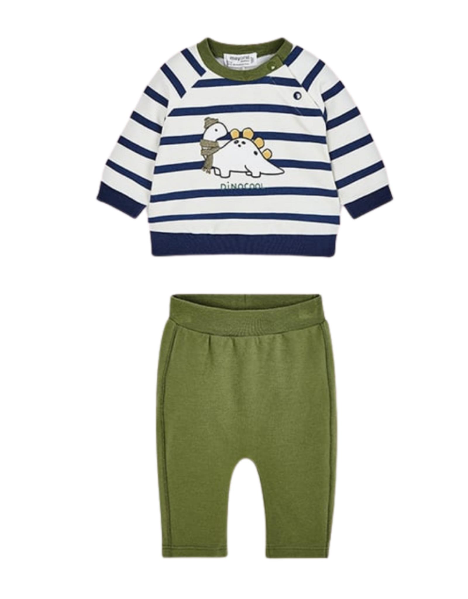 Mayoral Sweatshirt & Pants - Dinosaur- Green/Navy