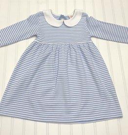 Luigi Carolina Blue Striped Dress