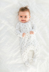 Feather Baby Honey Bees on White Zipper Footie