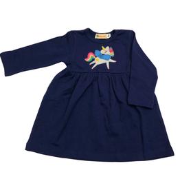 Luigi Long Sleeve Dress - Dk. Royal - Unicorn w/ Wings