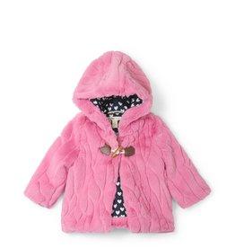 Hatley Faux Fur Baby Hoodie - Pink
