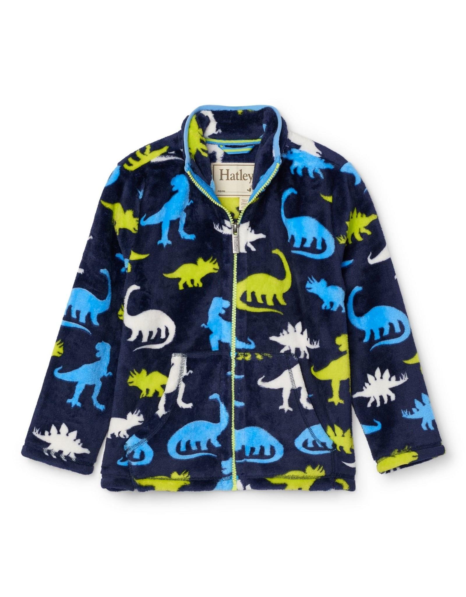 Hatley Silhouette Dinos Fuzzy Fleece Zip Up