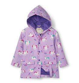 Hatley Playful Unicorns Colour Changing Raincoat