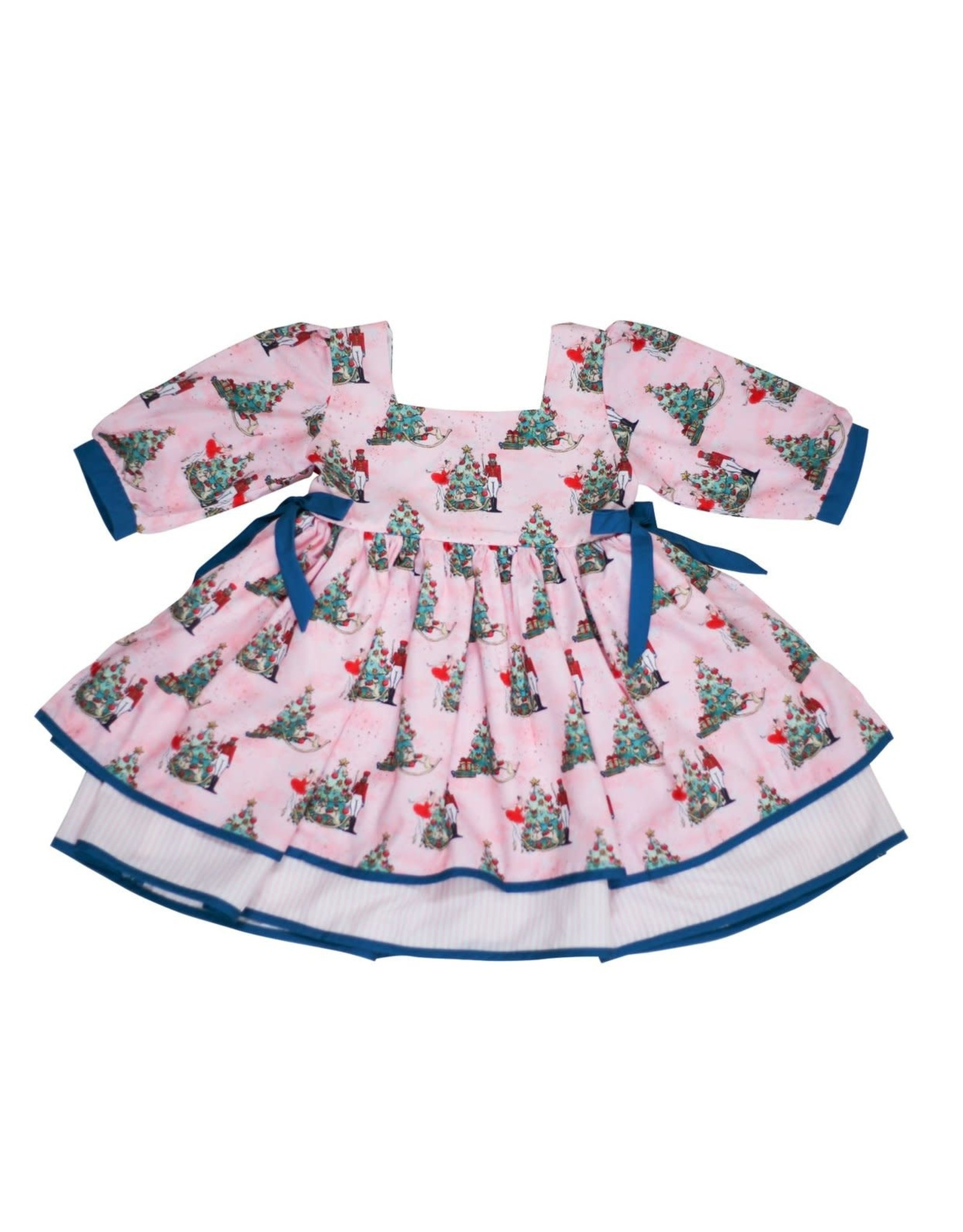Be Girl Gibson Dress- Pink Nutcracker