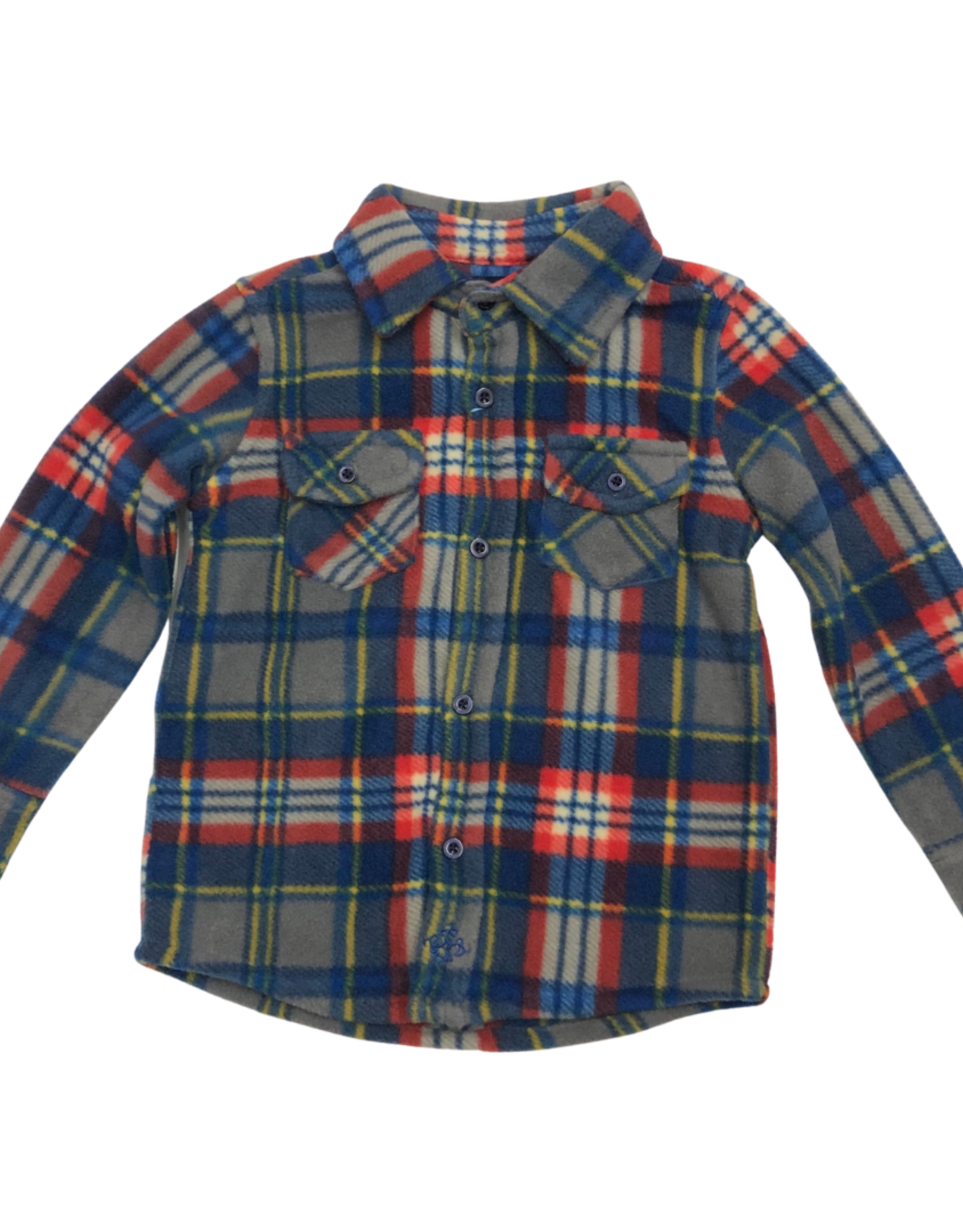 Andy & Evan Andy & Evan Fleece Button Down Blue/ Red