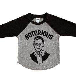 Wire & Honey Notorious RBG Raglan Shirt (Grey/Black)