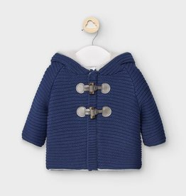 Mayoral Knit Hooded Cardigan - Blue