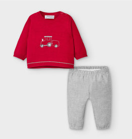 Mayoral Sweater & Pants Set - Red