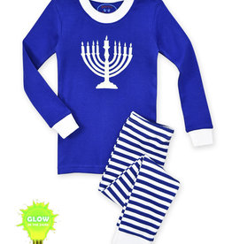 Sara's Prints Hanukkah Pajamas, Glow in the Dark Menorah