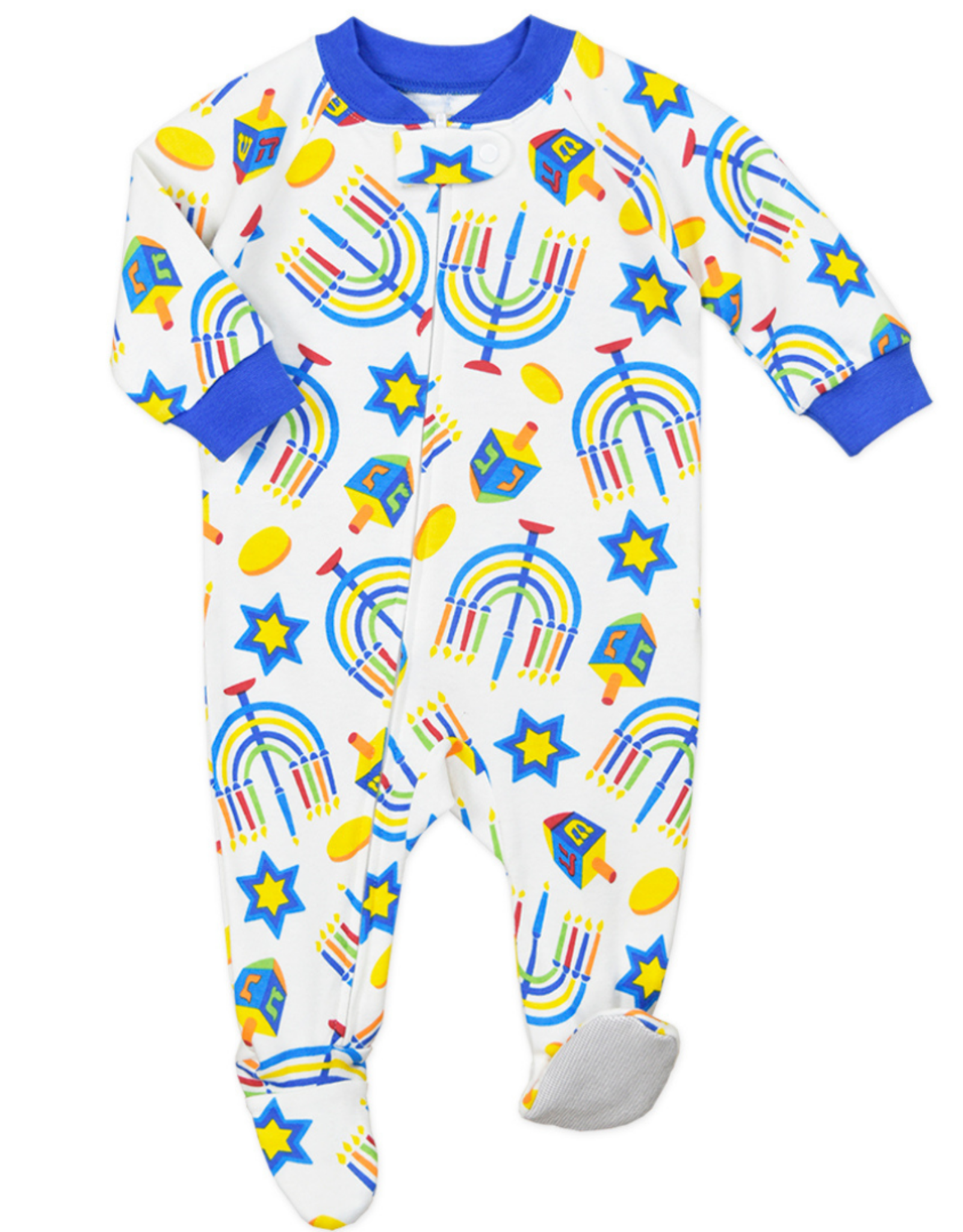 Sara's Prints Footed Hanukkah Pajamas, All Over Print