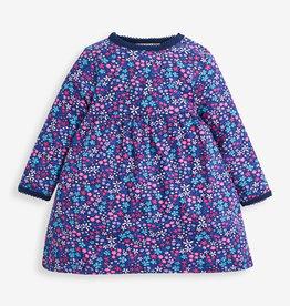 Jojo Maman Bebe  Jewel Floral Dress, Navy