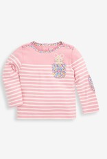 Jojo Maman Bebe Mouse Pocket Breton Top, Pink