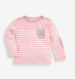 Jojo Maman Bebe Mouse Pocket Breton Top, Pink