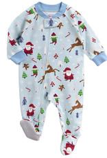 Sara's Prints Vintage Christmas Footed Pajamas