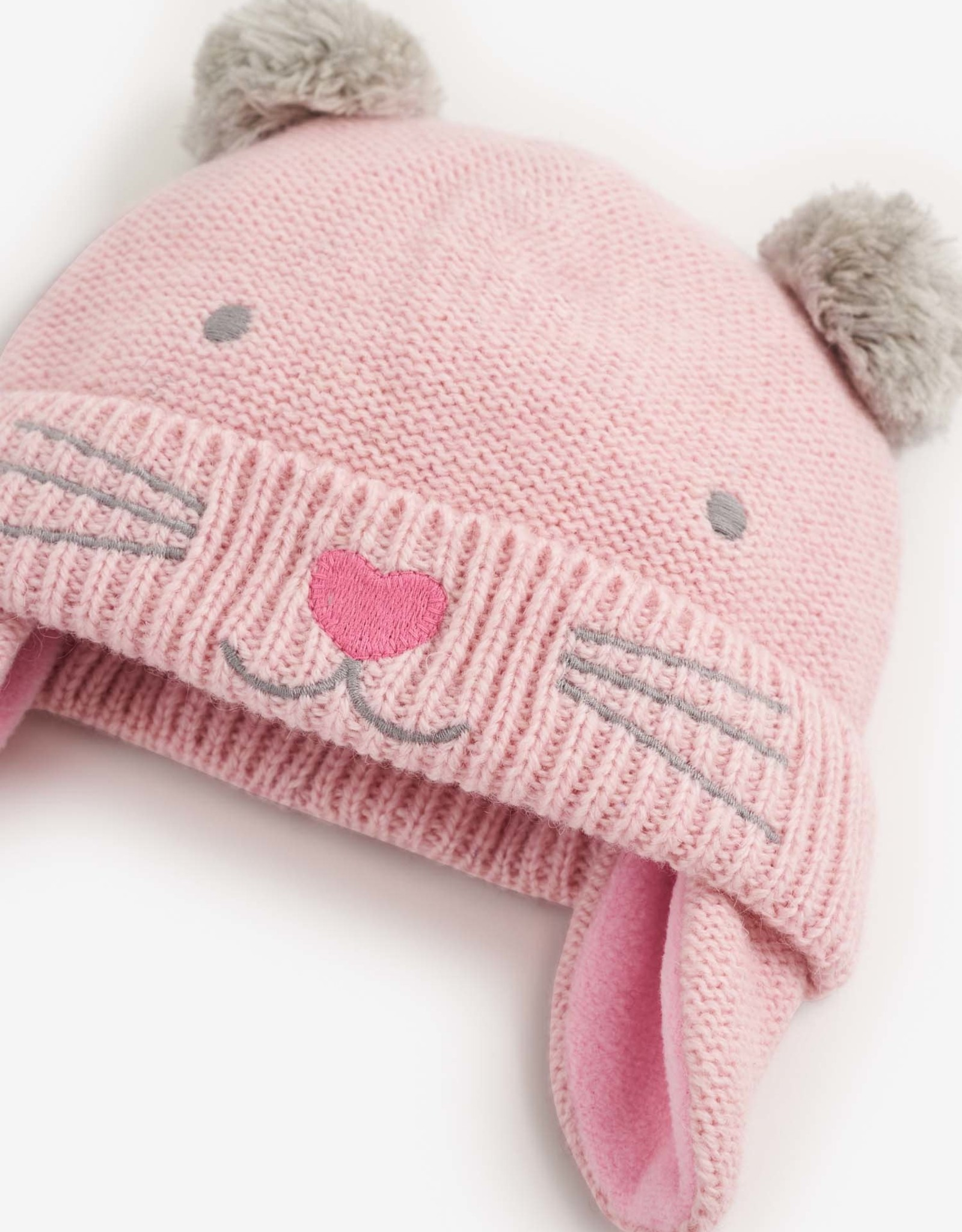Jojo Maman Bebe Cat Hat - Pink Grey