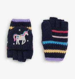 Jojo Unicorn Gloves, Navy