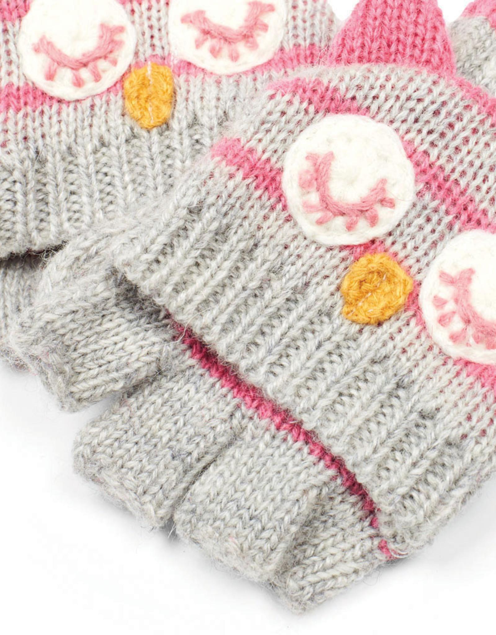 Jojo Owl Gloves, Marl Gray