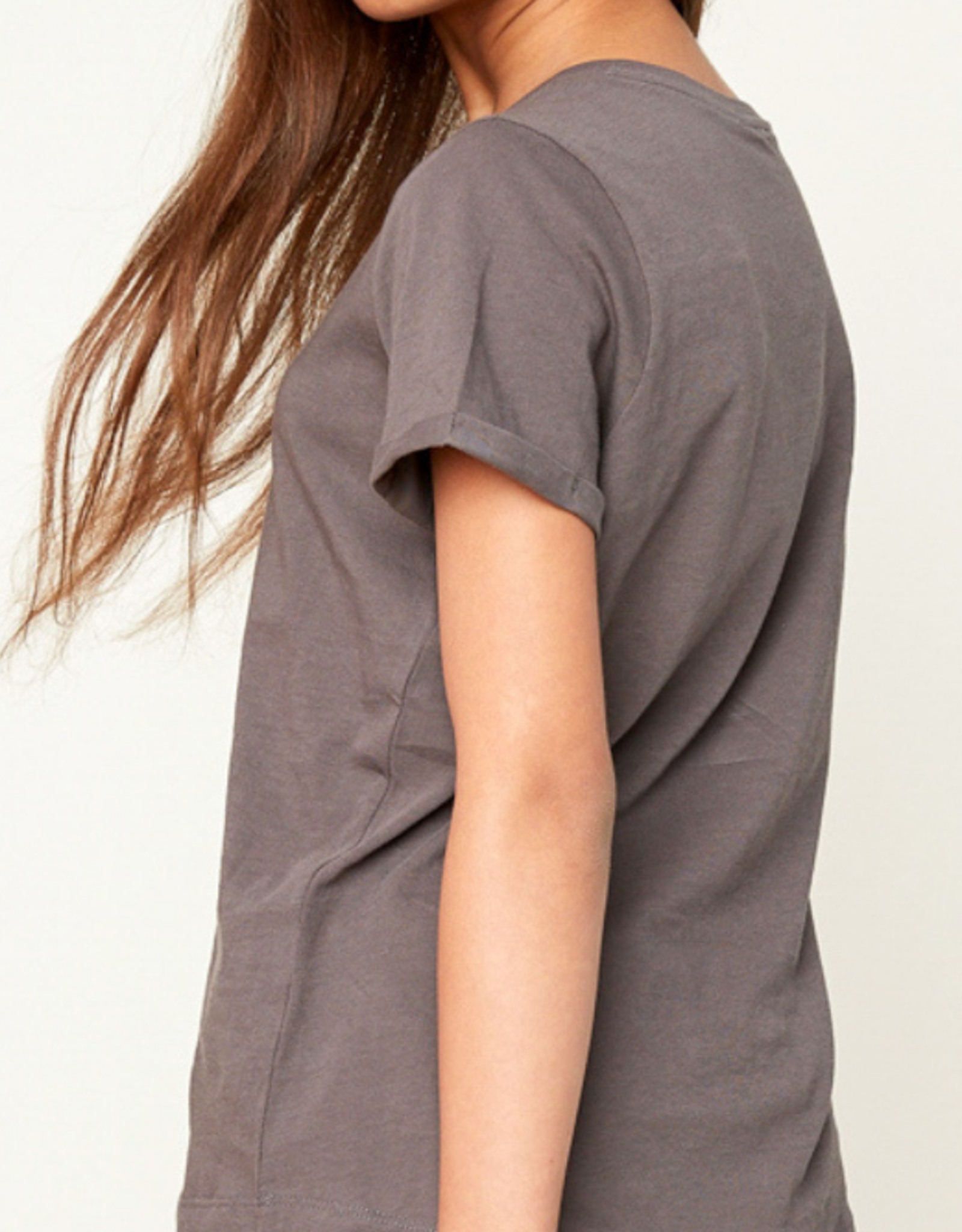 Hayden Girls Hayden Girls Criss Cross T-Shirt - Charcoal